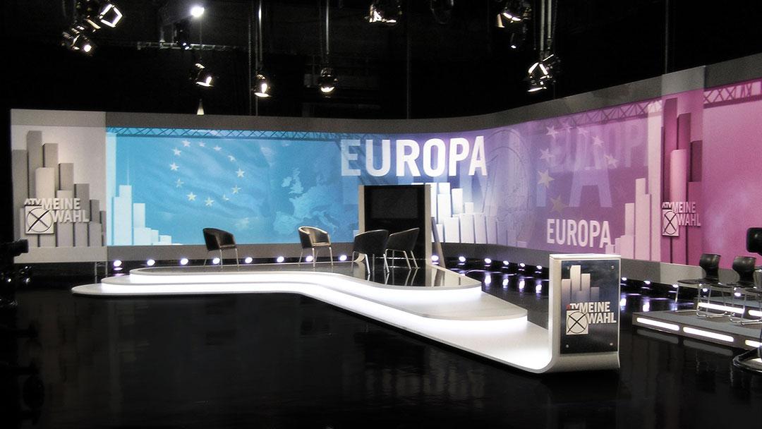 "ATV ""Der Präsident"" TV Studio Design"