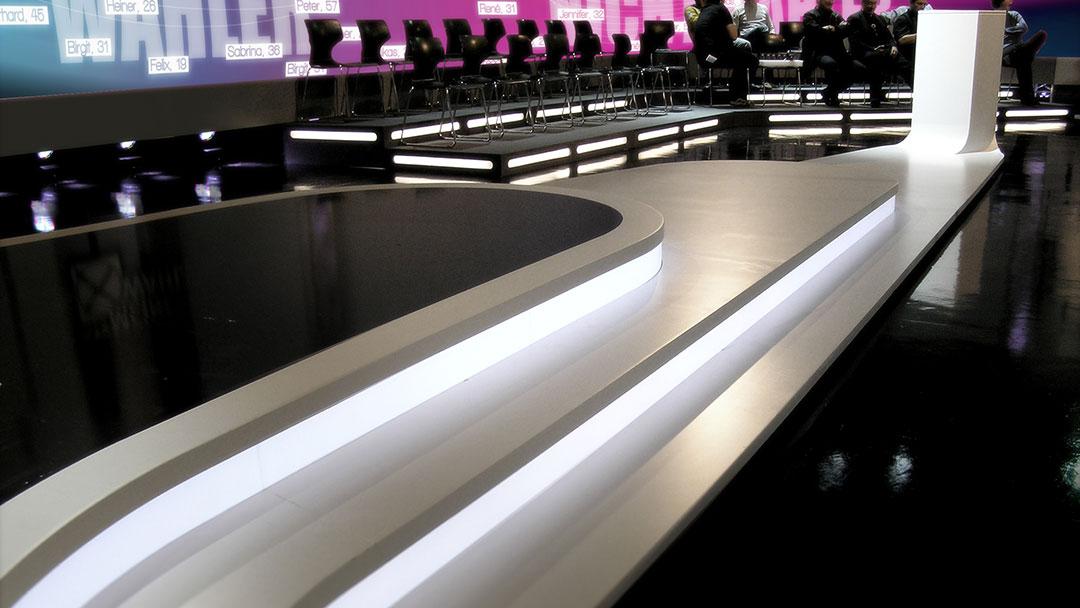 "ATV ""Der Präsident"" TV Studio Design Detail"