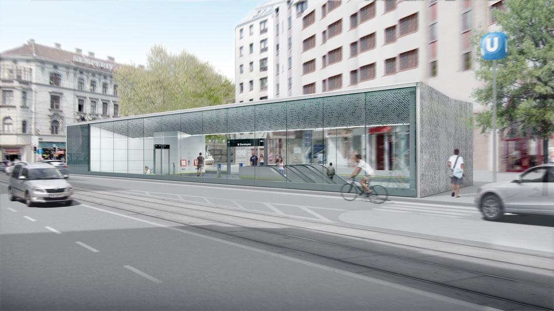 U5 Wien Eingangsgebäude