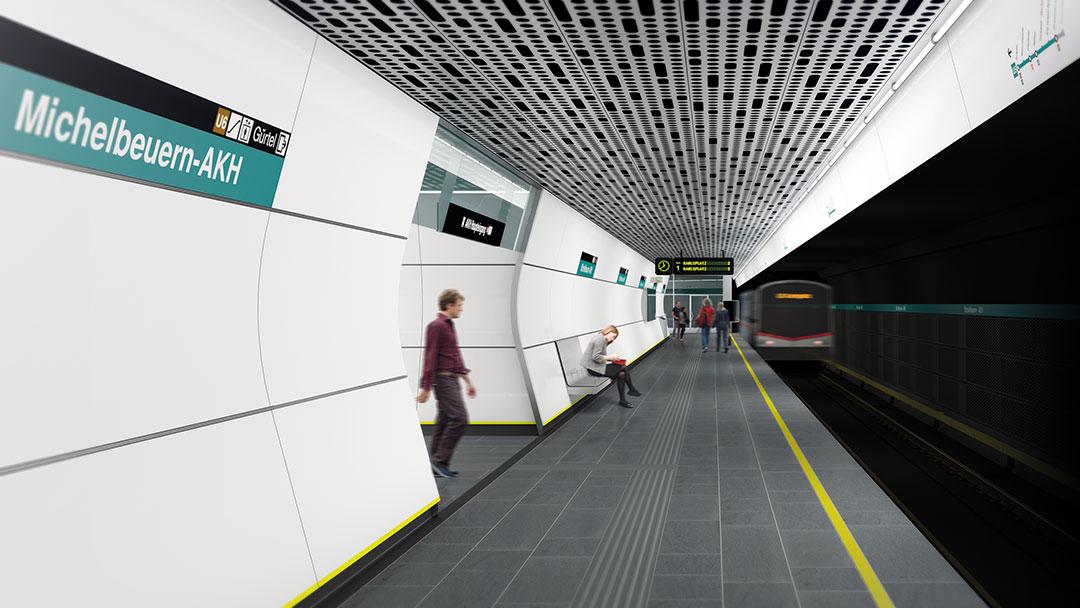 U5 Wien Liniendesign Peter Mitterer Architekt