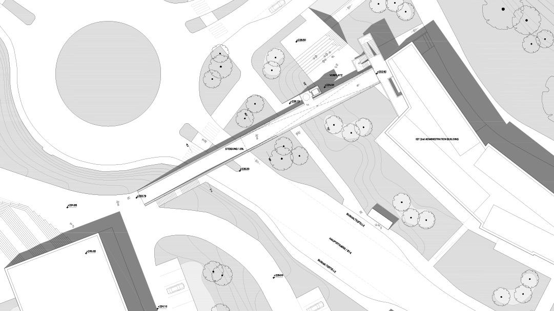 DFA/PMA Fußgängerbrücke IST Austria Klosterneuburg Plan