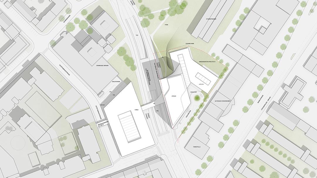 PMA Hochhaus Linz Lageplan