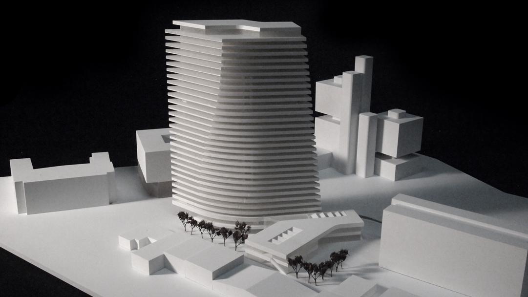 PMA Hochhaus Linz Modell